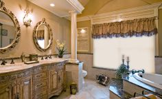 Some really great ideas from T&K Contractors' bathroom remodeling can include more organic elements such as rounded counters, mirrors with softened edges, gently curved ...