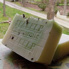 Natural Handcrafted Soap / Organic Bar Soap with Sea Kelp Moss / Chamomile Herb and Cocoa Butter Bath and Shower Natural Handcrafted Soap LLC http://www.amazon.com/dp/B001AKWZCU/ref=cm_sw_r_pi_dp_p4zgvb08QQ2JR
