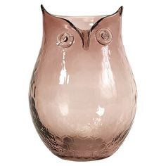 Owl-shaped glass vase.Product: Vase  Construction Material: Glass    Color: Rose  Dimensions: 8....