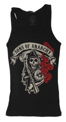 Rose Reaper - Sons Of Anarchy Women's Tank Top: Clothing