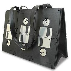 Upcycled floppy disk purse