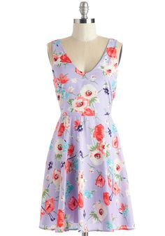And Vice Vernal Dress. Flaunt your all-around charm in this swingy lavender frock! #purple #modcloth