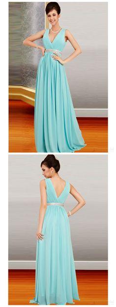 Elegant prom dresses,prom dress,bridesmaid dresses,v-neck prom dress