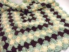 Bavarian Crochet St. Many tutorials can be found online to create this pretty stitch. I made this blanket for my great nephew. Blankets are a lot of work with this st. Short on time? This st makes pretty potholders/hot pads and it is great way to use up scrap yarns. :)