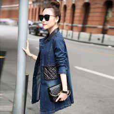2015 году новый досуг свободные джинсы женщина осень длинный тонкий съемный воротник в корейской версии моде джинсовые куртки из категории Женские летние куртки: цена, фото, отзывы, доставка – купить в интернет-магазине Купинатао