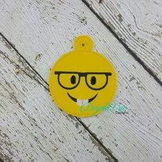 nerd emoji ornament