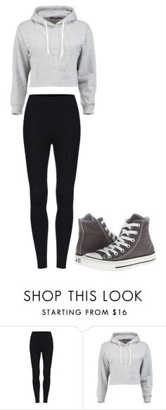 """""""Untitled #229"""" by cruciangyul on Polyvore featuring Boohoo and Converse"""