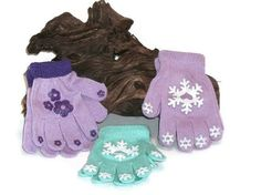 Toddler Girls Yarn Emblellished  Gloves and Mittens  by Shelly6262, $8.95