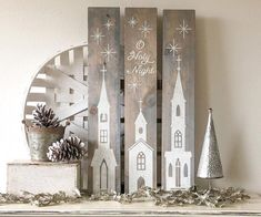 Our DIY workshops teach you how to make custom wood signs that you can use for creating décor pieces for your home. Search online for the nearest studio. Christmas Wood Crafts, Christmas Signs Wood, Rustic Christmas, Christmas Art, Christmas Projects, Christmas Crafts, Christmas Decorations, Christmas Ornaments, Church Decorations