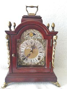 Warmink Mantel Bracket Clock Mecanical Wind Dutch Moon Dial John Thomas London | eBay