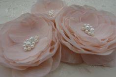 Bridal Flowers in blush pink http://www.etsy.com/shop/LudasPreciousDesigns