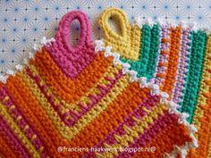 Franciens Haakwerk Potholder Pannenlap With Simple Pattern Crocheted