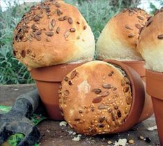 Lavender and Lovage   Baps, Bloomers and Barm Cakes – Celebrating British Bread Week with Rustic Flower Pot Bread Loaves   http://www.lavenderandlovage.com
