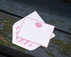 Pink Lip Notecards for Her