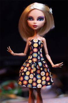 pastel butterfly ooak monster high doll handmade custom