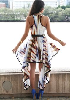 light tribal patterned dress