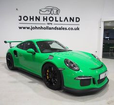 We are delighted to offer for sale this very rare and collectable Porsche GT3 RS. Without question this brand new UK delivery mileage (35 miles on the clock) car has to be the best example available for sale in the UK today. Its finished in a special Viper Green colour with Black Leather and Alcantara Bucket Seats with Red Six Point Seat Belts and Carbon Fibre Interior Inlays. . . 0114 256 5040 sales@jhsales.co.uk http://ift.tt/1TF1Jrn . . #johnholland #jhdreams #sheffield #supercars…