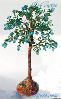 Rejuvenating tree - Trees - Master Class - Treasury articles - Weave Beaded Ornaments, trees and flo ...