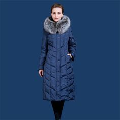 US $122.29  Scarponi da neve Classico Cappotto del Rivestimento Delle Donne Della Pelliccia di Inverno Lungo Parka Donna Trapuntato Cappotto Femminile