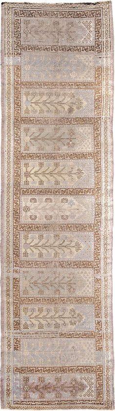 "ANTIQUE SAMARKAND Origin: EAST TURKESTAN Size: 3' 7"" x 13' 10"" Rug ID # 852"
