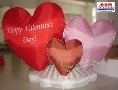 Say Happy Valentines Day this February 14 with this colorful 3 hearts on a cloud Valentines Inflatable.  Show that someone special that you are thinking about them. Will create some wonderful memories.