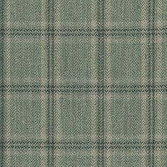 Ian Sanderson Orkney Check - Sage. Cotton, linen, viscose, wool silk blend