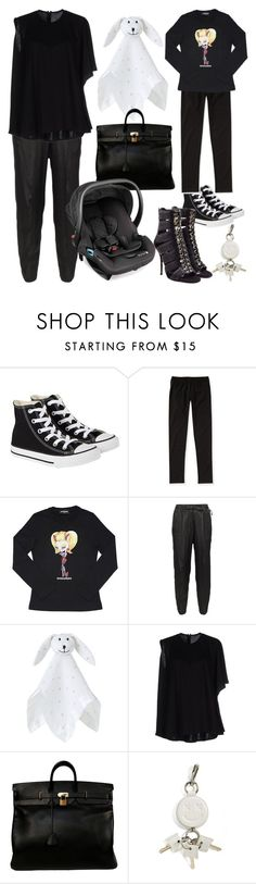 """""""Untitled #1915"""" by moxieremon ❤ liked on Polyvore featuring Converse, Aéropostale, Dsquared2, MM6 Maison Margiela, Aden + Anais, Balmain, Hermès, Baby Jogger, Alexander Wang and women's clothing"""