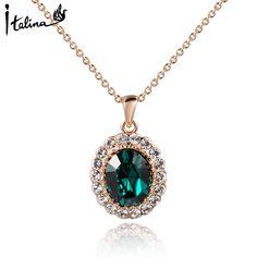 Купить Italina, элегантная новинка, ожерелье, колье, 18К, розовая позолота, с…
