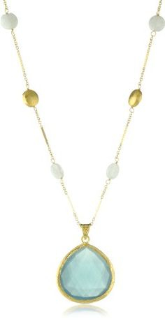 "Coralia Leets Jewelry Design ""Riviera Collection"" 33"" Nugget Necklace Light Blue Chalcedony Coralia Leets Jewelry Design http://www.amazon.com/dp/B007G8MO58/ref=cm_sw_r_pi_dp_.eN9tb05VS24C"