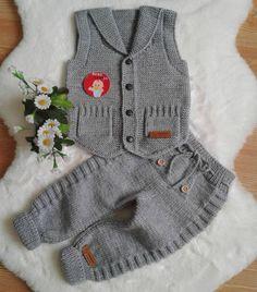Baby Boy Knitting Patterns, Crochet Baby Dress Pattern, Baby Sweater Knitting Pattern, Crochet Baby Clothes, Baby Knitting, Neutral Baby Clothes, Newborn Boy Clothes, Baby Boy Overalls, Baby Overall