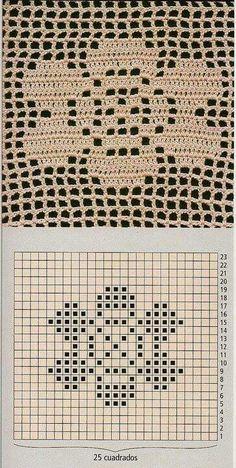 Image gallery – Page 740771838685199553 – Artofit Crochet Motif Patterns, Crochet Symbols, Crochet Blocks, Crochet Diagram, Crochet Chart, Crochet Squares, Filet Crochet, Crochet Designs, Crochet Doilies