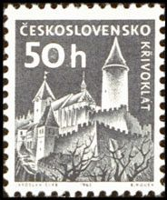 Sello: Castles (Checoslovaquia) (Strongholds and Castles) Mi:CS 1431,Sn:CS 974A,Yt:CS 1072A,AFA:CS 1276,POF:CS 1337