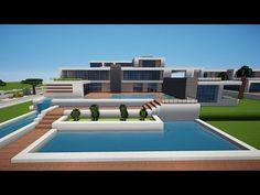 Villa Minecraft, Minecraft Modern Mansion, Casa Medieval Minecraft, Minecraft House Plans, Easy Minecraft Houses, Minecraft House Tutorials, Minecraft Houses Blueprints, Minecraft Room, Minecraft House Designs