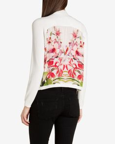 Mirrored tropics wrap - Ivory | Knitwear | Ted Baker UK