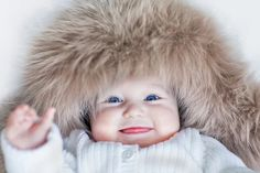 Photo about Funny cute baby girl with big blue eyes wearing a huge winter hat. Image of child, christmas, portrait - 41421770 Cute Baby Girl, Baby Love, Little Babies, Cute Babies, Russian Baby, Big Blue Eyes, Baby Hacks, Baby Tips, Children Images