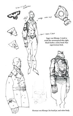 Sketchbook pages from the Conqueror Worm trade. - The Art of Mike Mignola* • Blog/Website | (www.artofmikemignola.com) • Online Store | (www.artofmikemignola.com/Shop) ★ || Please support the artists and studios featured here by buying this and other artworks in their official online stores • Find more artists at www.facebook.com/CharacterDesignReferences  and www.pinterest.com/characterdesigh and learn more about #concept #art #animation #anime #comics || ★