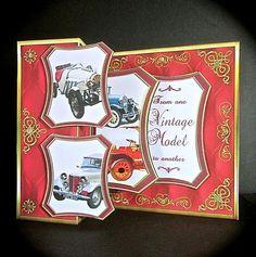 Card Gallery - Fold back pop-up - Vintage model