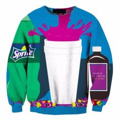 Sprite Soft Drink Couch Syrup Simple Illustration Blue Design Sweatshirt  #Sprite #Soft #Drink #Couch #Syrup #Simple #Illustration #Blue #Design #Sweatshirt