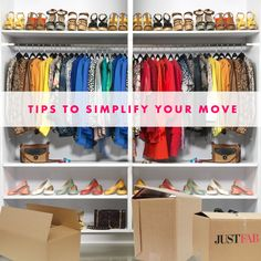 Simplify your move, and packing, with these helpful tips. #DIY #JustFab