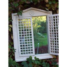 Garden Mirror Roman Open Shutter | Garden Mirrors. Outdoor Mirrors & Illusion Mirrors | Products