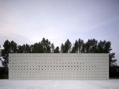 crematorium in Sint-Niklaas. This is quite beautiful. But I'd like to visit BEFORE I'm dead.
