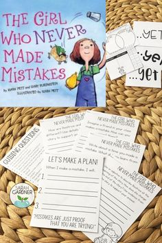 "These activities support the book, ""The Girl Who Never Made Mistakes."" Included in this pack is a growth mindset/fixed mindset sort, graphic organizers, and writing prompts. Use this at the beginning of the school year to help create a safe classroom community in which students can make mistakes without fear of embarrassment."