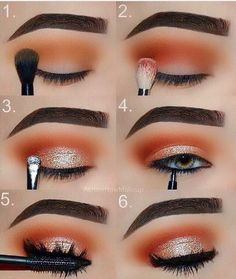 Makeup Tutorial: Orange and Gold Glam Eye Make-up Step for .- Makeup-Tutorial: Orange und Gold Glam Eye Make-up Schritt für Schritt Tutorial Makeup Tutorial: Orange and Gold Glam Eye Makeup Step by Step Tutorial, …, up - Make Up Gold, Eye Make Up, Make Up Steps, Night Make Up, Eye Makeup Remover, Makeup Eyeshadow, Eyeshadows, Eyeshadow Ideas, Eyeshadow Makeup Tutorial