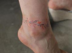 leaf anklet 발찌.