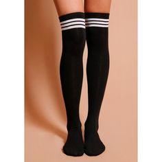 Fast Times Varsity Socks ($12) ❤ liked on Polyvore featuring intimates, hosiery, socks, knee high socks, knee socks and knee hi socks