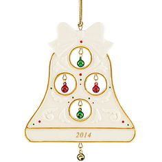 2014 Jolly Jingle Bell Ornament by Lenox