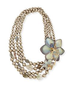 Y25MT Alexis Bittar Crystal Lace Flower Necklace