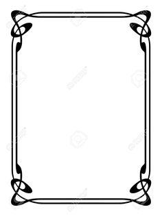 invitation border frame printables pinterest decoration rh pinterest com decorative border vector art decorative frame border vector