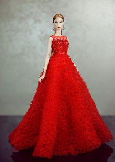 robe pour la royauté de la mode Poppy Parker Silkstone par Rimdoll