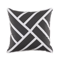 Black and White Chinese Chippendale Linen Throw Pillow